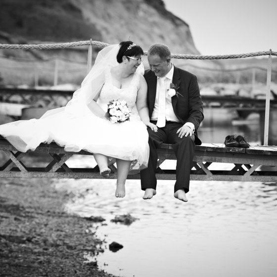 Bryllupsbillede fotograferet af bryllupsfotograf Brian Bjeldbak