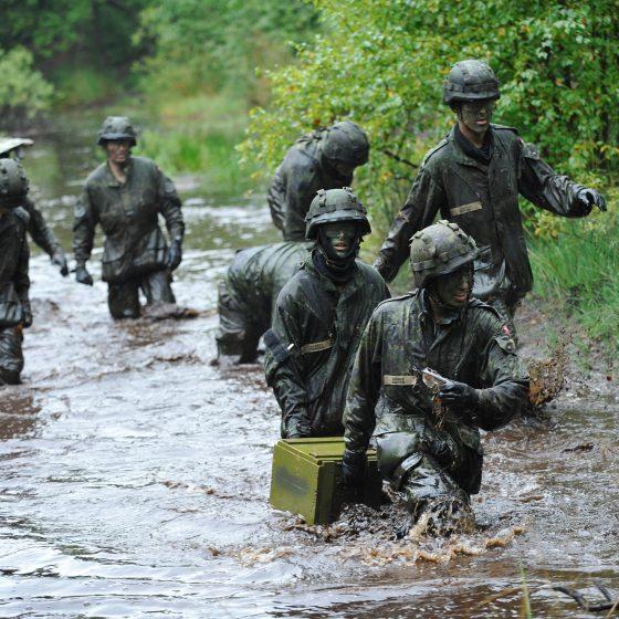 VPL soldater på øvelse