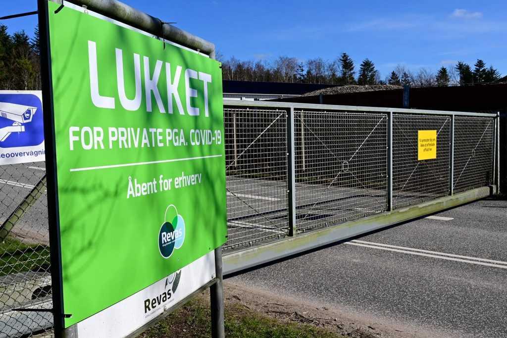 Genbrugsplads-lukket