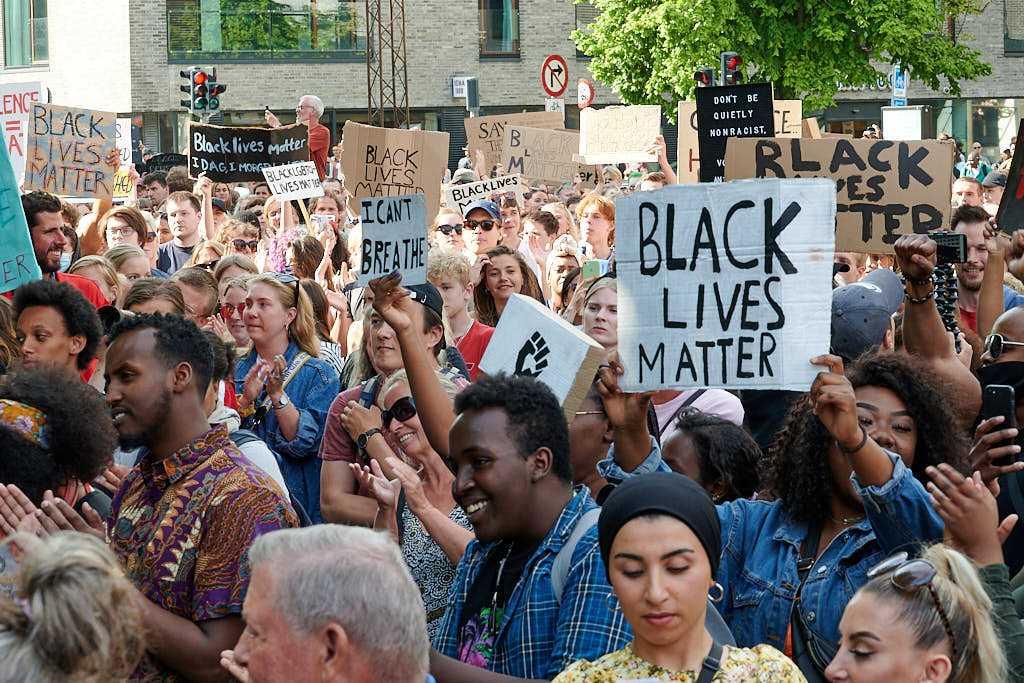 Black Lives Matter demonstration i Aarhus