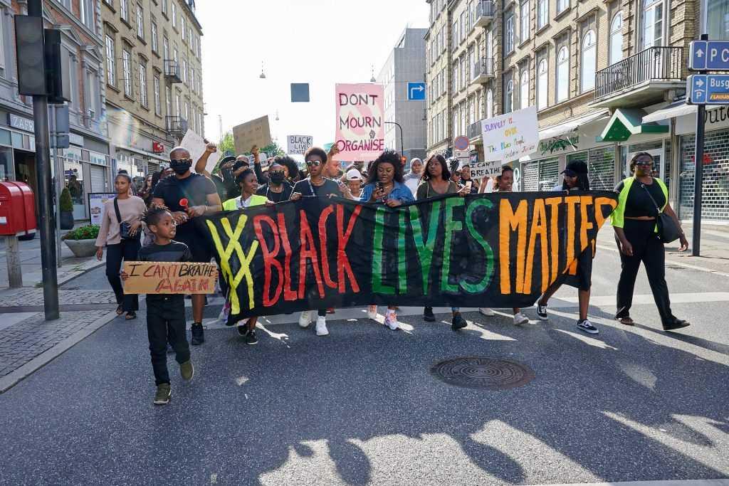 Black Lives Matter demonstraion Aarhus